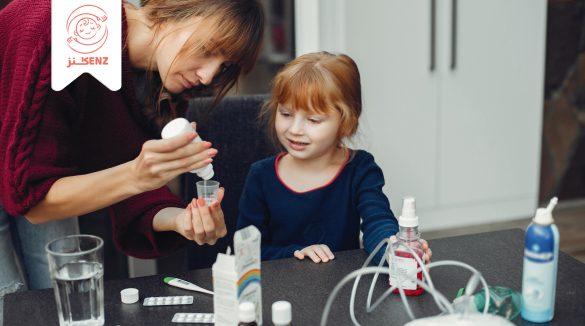 اعطاء الطفل المضاد الحيوي